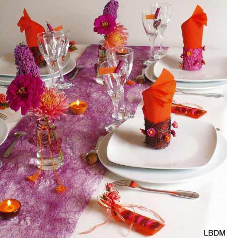 Décoration de table mariage, anniversaire, dîner en ...